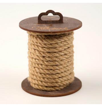 Джутовая веревка для шибари, на катушке (Натуральный), 5 м.