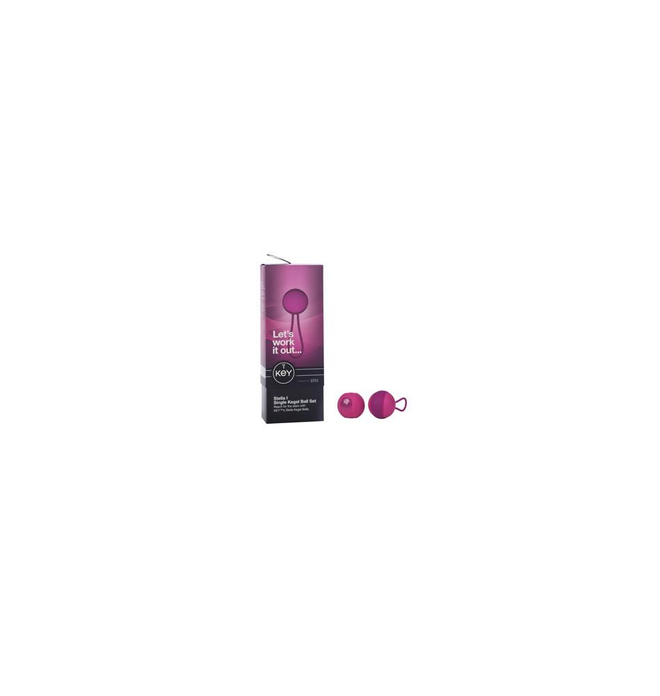 Вагинальный шарик соло STELLA I со сменным грузом розовый