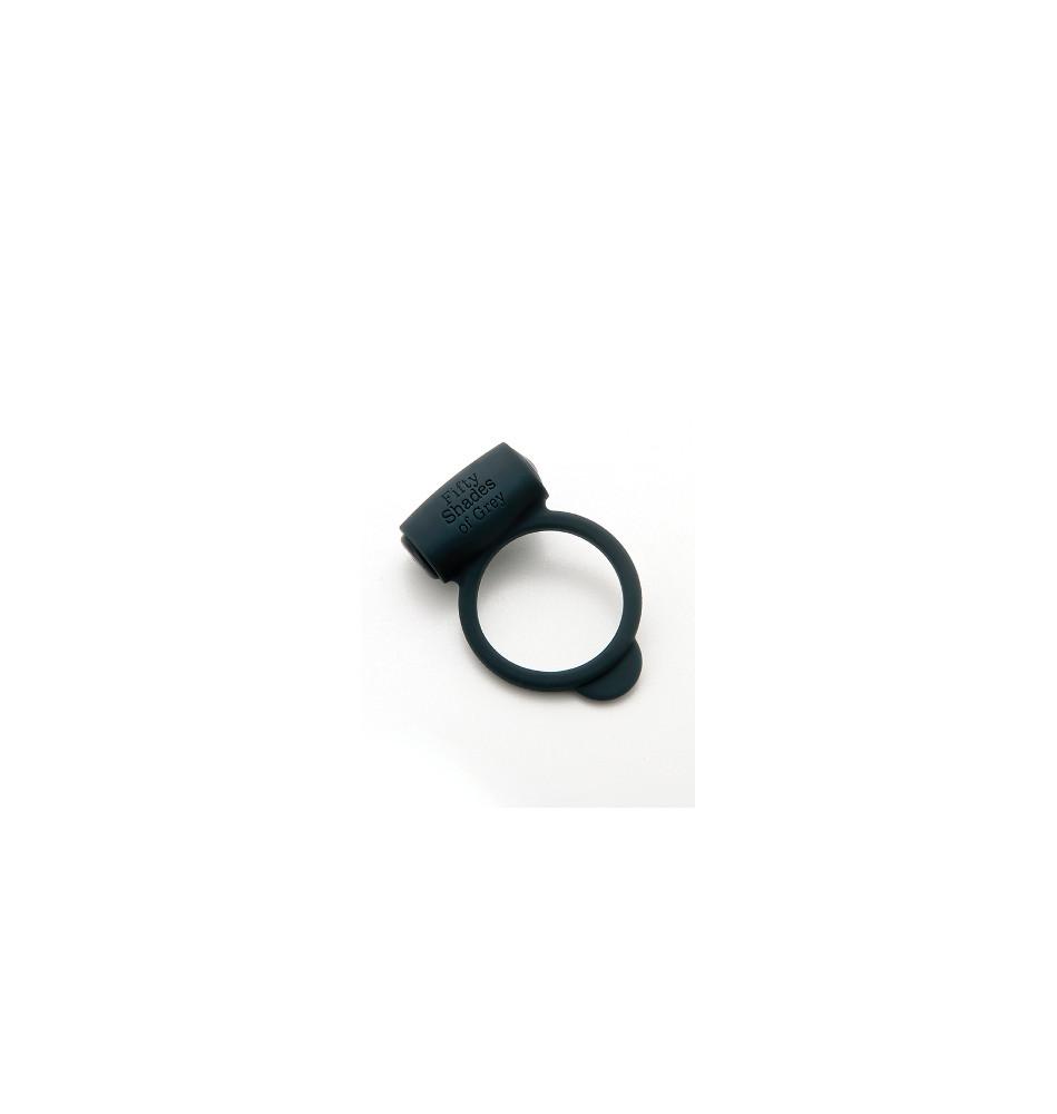 Эрекционное кольцо Vibrating Love Ring с вибрацией черное