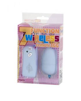 Вибромассажер 7 функций голубой Wireless