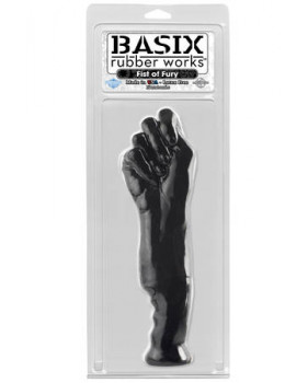 Фаллоимитатор-кулак черный