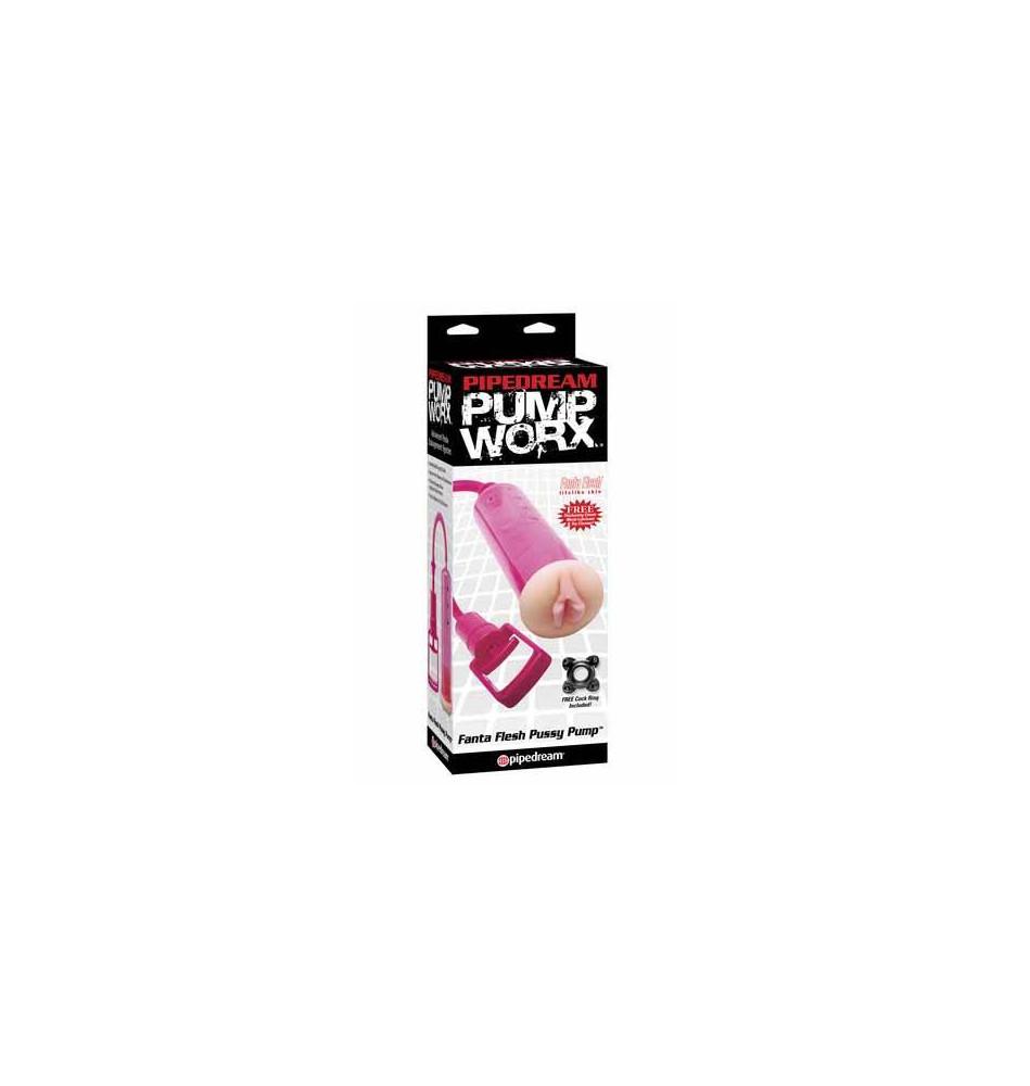 Помпа мужская FANTA FLESH с вагиной-уплотнителем розовая