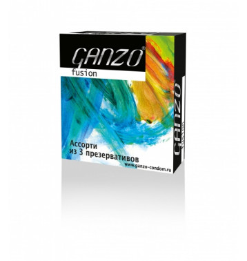 Презервативы GANZO Fusion №3 - Ассорти из презервативов